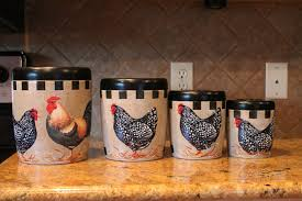 White Ceramic Kitchen Canisters Affordable Price Of Rooster Kitchen Decor Simple But Precious