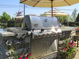 custom designed outdoor kitchens and bbq grill islands for patios