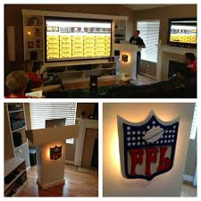 home theater projector setup my fantasy football draft setup built the podium for my computer