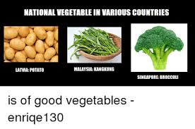 Vegetable Meme - national vegetable in various countries malaysia kangkung latvia