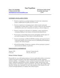 Construction Worker Resume Sample Resume For A Construction Worker Consruction Laborer Resume