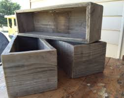 Small Wooden Boxes For Centerpieces by Boxes U0026 Bins Etsy