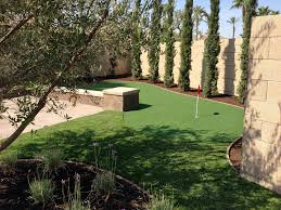 Building A Backyard Putting Green by Synthetic Grass Gary Indiana Golf Green Backyard Landscaping
