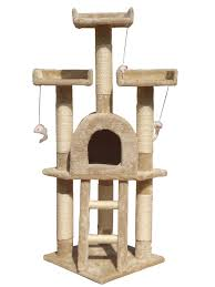 Cat Scratcher Tower Cat Tree Scratching Post Scratch Toy Activity Centre Climbing