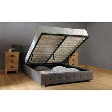 side lift ottoman storage sleigh bed storage ottoman gas lift up bed frame storage designs