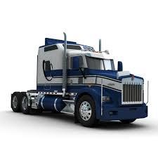a model kenworth truck sleeper 3d lwo