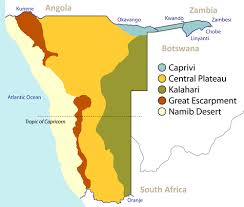africa map kalahari namibias geography borders and location in africa