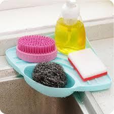 kitchen sink drainer tray suction cup kitchen sink corner storage rack soap sponge holder wall