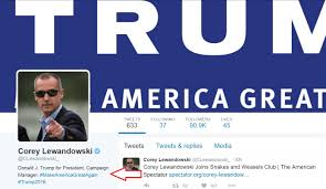 Lewandowskis Twitter Bio Still Says Trump Campaign Manager as CNN