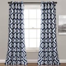 Blue Ikat Curtain Panels Blue Ikat Curtains Drapes You Ll Wayfair
