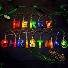 led merry christmas light sign colorful led merry christmas letters shaped decorations string