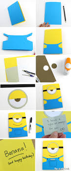 create a birthday card easy minion greeting card the craft