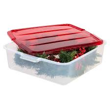 plastic wreath storage box at home at home