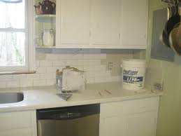 tiles backsplash white subway tile gray grout kitchen backsplash