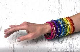 wrap bracelet with charms images Rainbow ribbon wrapped bracelets running with sisters jpg