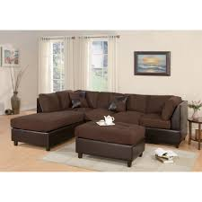 Microfiber Sectional Sofas by Furniture Reversible Chaise Sectional Sectional Sofa Walmart