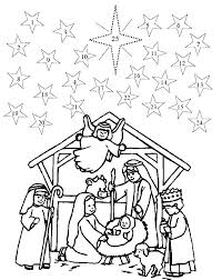 printable coloring pages nativity scenes nativity scene coloring page refugeesmap info