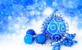 Cheap New Year Decorations by Christmas And New Year Decoration Blue Ball Over Snow Background