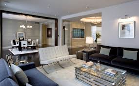 fascinating dark marble flooring under sofa near glass table and