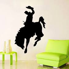 compare prices on wall stickers wild online shopping buy low zuczug 36 55cm horse wall stickers 3d removable wall decals equestrian wild west cowboy mustang