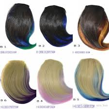 hair pieces for women sara women s girls ombre oblique side bangs synthetic hair pieces