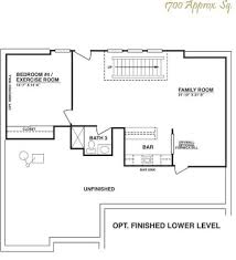 House Plans With Finished Basements All Images Basement Floor Plan Of The Laurelwood Plan Basement