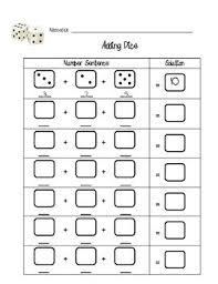this is just a worksheet to help students practice addition with 3