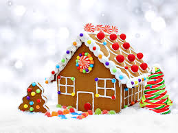 picture gingerbread house christmas new year tree food cookies