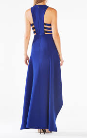cutout high low dress