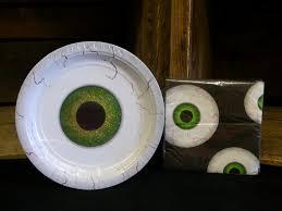 sparkle eyeball paper plates and napkins 2 order
