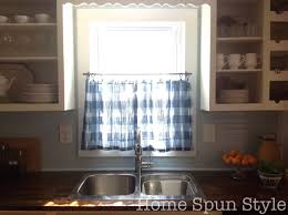 Sewing Cafe Curtains No Sew Cafe Curtains U2013 Home Spun Style
