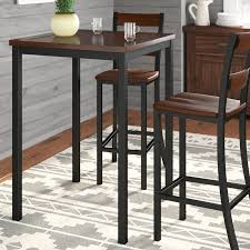 reclaimed wood pub table sets reclaimed wood pub table wayfair