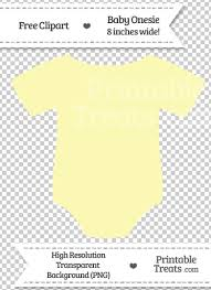light yellow baby pastel light yellow baby onesie clipart printable treats com