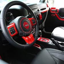 jeep red 2017 opar 3pcs set red steering wheel cover trim for 2011 2017 jeep