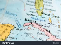 Geographical Map Map View Havana Cuba On Geographical Stock Photo 374481601