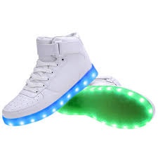 where do they sell light up shoes women high top usb charging led light up shoes flashing sneakers white