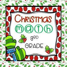 christmas math worksheets 3rd grade common core christmas math