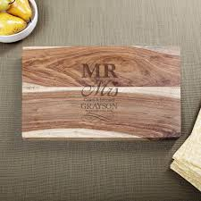 personalized wedding cutting board hardwood wedding day personalized cutting board