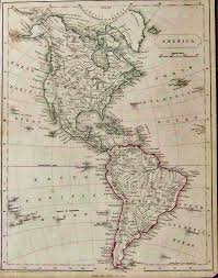 Map Of South And North America by Prints Old U0026 Rare North America Page