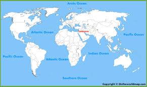 lebanon on the map lebanon location on the world map