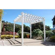 Home Depot Pergola Kit by Hampton Bay 9 Ft X 9 Ft Steel And Aluminum Arched Pergola With