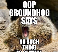 Groundhog Meme - groundhog day meme gop groundhog says no such thing as climate