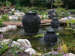 low maintenance fountains installed by turpin landscaping in