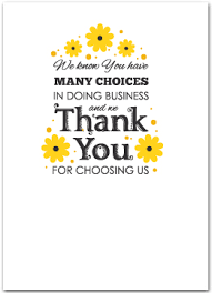floral business thank you cards business greeting cards oml