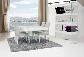Modern White Dining Room Chairs Aura Modern White Floating Dining Table