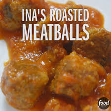 food network ina garten u0027s easy roasted meatballs get