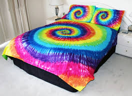 bedrooms using colorful tie dye bedding for pretty bedroom