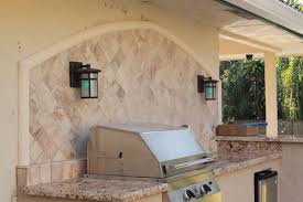 outdoor kitchen backsplash custom outdoor kitchen with granite counter and marble backsplash