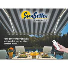 Sunsetter Patio Awning Lights Sunsetter Dimming Led Awning Lights