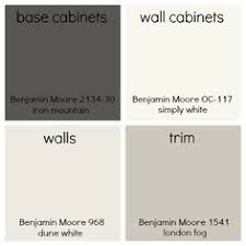 cabinets are benjamin moore white dove and the island is kelly